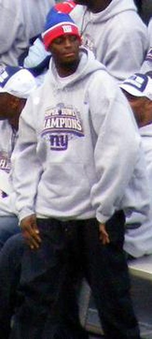 Plaxico Burress - Burress at the Giants Super Bowl champions parade in NYC.