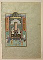 """Bahram Gur in the White Palace on Friday"", Folio 235 from a Khamsa (Quintet) of Nizami MET sf13-228-7-14.jpg"