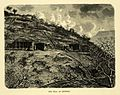 """Kanhery hill caves,"" an engraving by H. Clerget, from 'Le Tour du Monde', 1869.jpg"