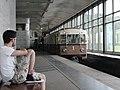 """Sokolniki"" retro train at Vorobyovy Gory station (Ретропоезд ""Сокольники"" на станции Воробьёвы Горы) (4686368732).jpg"