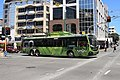 'Go Wellington'-trolley bus in green fern livery at Courtenay Place on the last day of service (31 Oct 2017).jpg