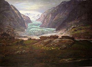 View of Nigardsbreen in Jostedalen