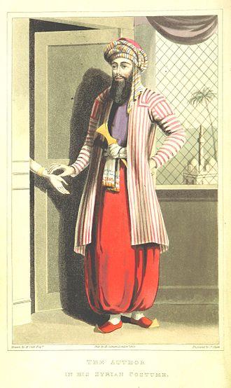 Sirwal - (1829) MADDEN, Richard Robert wearing a Sirwal in Syria
