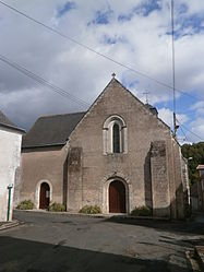 The church of Sainte-Luce, in Luzillé