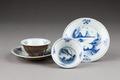 Östasiatisk keramik. Koppar med fat, 2 st - Hallwylska museet - 95786.tif