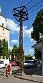 Австрійський електричний стовп у Самборі (01).jpg