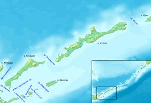 Vries Strait - Image: Проливы Курильских островов Юг