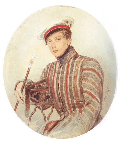 Св. князь А.А.Суворов.  Акварель А.П.Брюллова