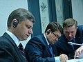С И.Е. Левитиным и О.В. Белозёровым во время визита экспертов МОК по транспорту.jpg