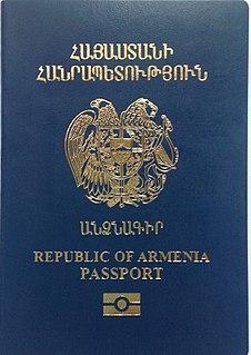 Armenian passport passport