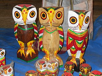 Wooden dolls, Natungram - Colored Wooden Owl