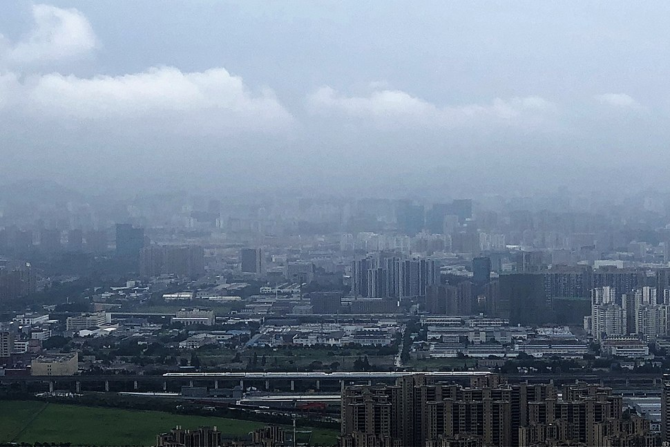 Gongshu District, as seen from top of the Banshan Mountain