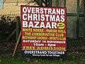 -2019-11-10 Poster for Christmas Bazaar in Overstrand, Norfolk.JPG