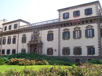 Piero Portaluppi - The Palazzo del Capitano di Giustizia, now a courthouse on Piazza Fontana in Milan. Designed in 1578 in the Milanese Baroque style by Pietro Antonio Barca and completed in 1605. Restored in 1960 by Portaluppi following World War II bombing damage.