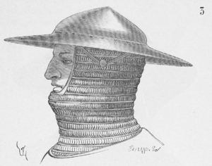 Kettle hat - Medieval kettle hat, worn with a mail coif
