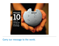 Photo: Wikipedia's 10th Birthday Anniversary