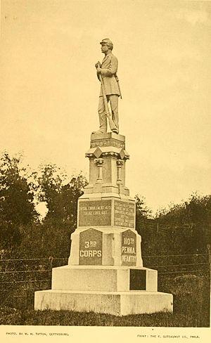 110th Pennsylvania Infantry - Gettysburg monument
