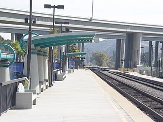 Sorrento Valley station - The north side of the Sorrento Valley station, looking eastward