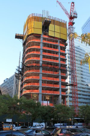 111 Murray Street - Construction progress in October 2016.