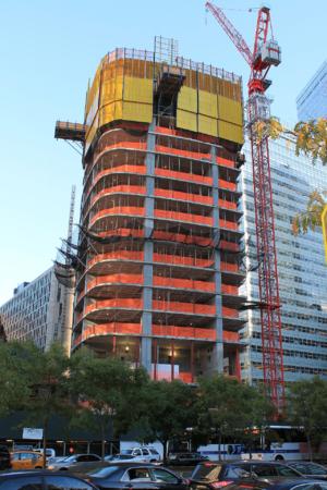 111 Murray Street - Construction progress in October 2016.