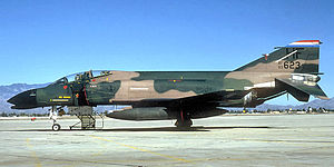 181st Intelligence Wing - 113th Tactical Fighter Squadron - McDonnell F-4C-20-MC PhantomII, AF Ser. No. 63-7623, circa 1979.  Note one MiG Kill star on intake from its Vietnam War combat with the active duty USAF.