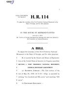 116th United States Congress H. R. 0000114 (1st session) - To adjust the boundary of the Fort Frederica National Monument in the State of Georgia, and for other purposes.pdf