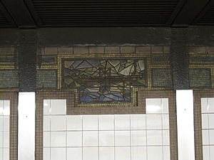 125th Street (IRT Lexington Avenue Line) - Mosaic with depiction of bridge