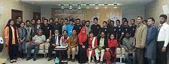 Bengali Wikipedia - Image: 13th anniversary of Bangla Wikipedia with all wikipedians 02