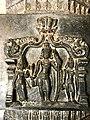 15th century Hazara Rama temple Sita Rama Lakshmana relief, Hampi Hindu monuments Karnataka.jpg