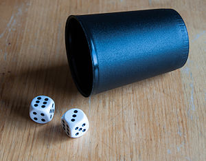 Mia (game) - Mia is played with two dice and a dice cup