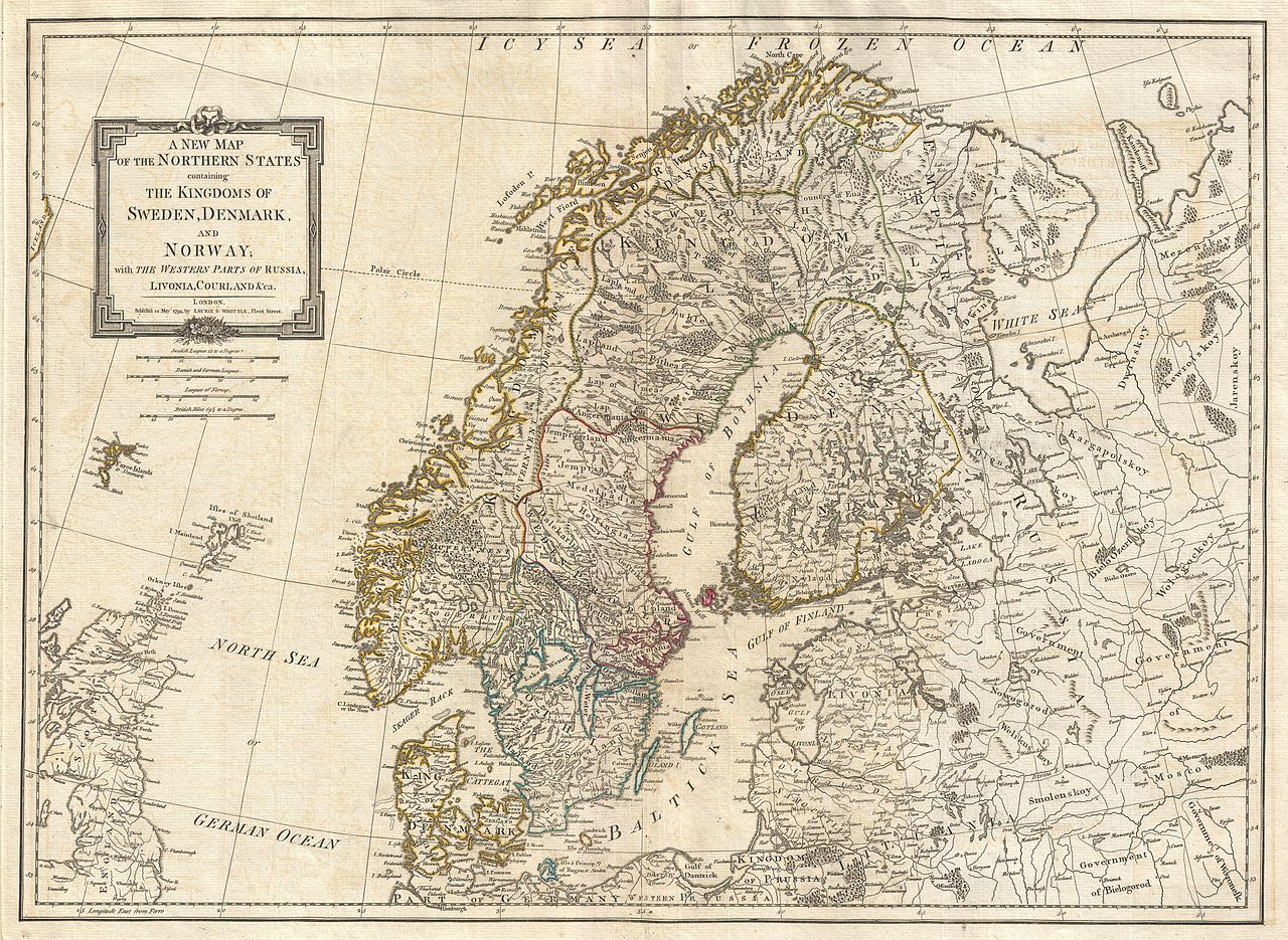 File Laurie And Whittle Map Of Norway Sweden Denmark And - Norway map jpg