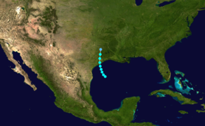 1888 Atlantic hurricane season - Image: 1888 Atlantic tropical storm 2 track
