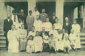 Southern Asia Division of Seventh-day Adventists - Church workers, 1898 in India. Click for list of people pictured.