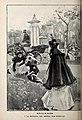 1899-06-24, Blanco y Negro, Mañanas de Madrid, A la entrada del Retiro, Huertas.jpg