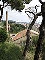 18 Fàbrica Llobet-Guri (Calella), des del Parc Dalmau.jpg
