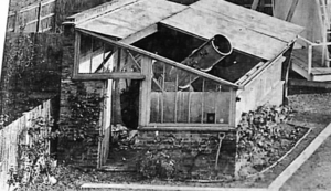 Andrew Ainslie Common - Common's 18-inch reflector in his garden shed in the 1870s at his house in Ealing