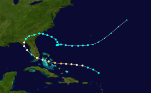 1941 Florida hurricane - Image: 1941 Atlantic hurricane 5 track