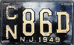 1949 New Jersey license plate.JPG