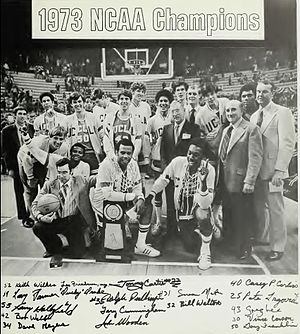 Tommy Curtis - UCLA team after their seventh consecutive championship in 1973