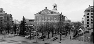Dock Square (Boston) - Dock Square, with view of Faneuil Hall, Boston, 1987