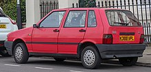 1992 Fiat Uno IE 1.0 Rear.jpg