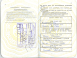 1995 South African Passport pages 36 and 37. Foreign travel allowance rules.