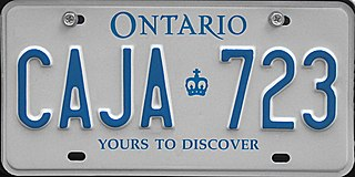 Vehicle registration plates of Ontario Licence plates of Ontario, Canada