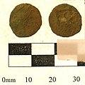 19a. Roman copper alloy coin; barbarous radiate. c.275-85AD. (FindID 236853).jpg