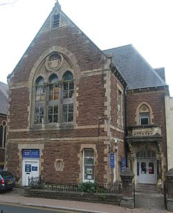 1 Monk Street, Monmouth former Working Men's Free Institute.JPG