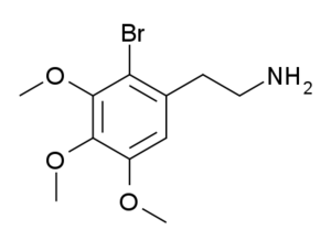 2-Bromomescaline - Image: 2 BRM structure