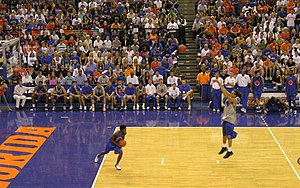 2006–07 Florida Gators men's basketball team - Image: 20061013 Sha Brooks and Joakim Noah at Midnight Madness 3 point shoot