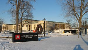 Albright–Knox Art Gallery - View from Elmwood Avenue