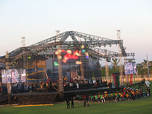 2007 Cricket World Cup - Alison Hinds performing during the ceremony.