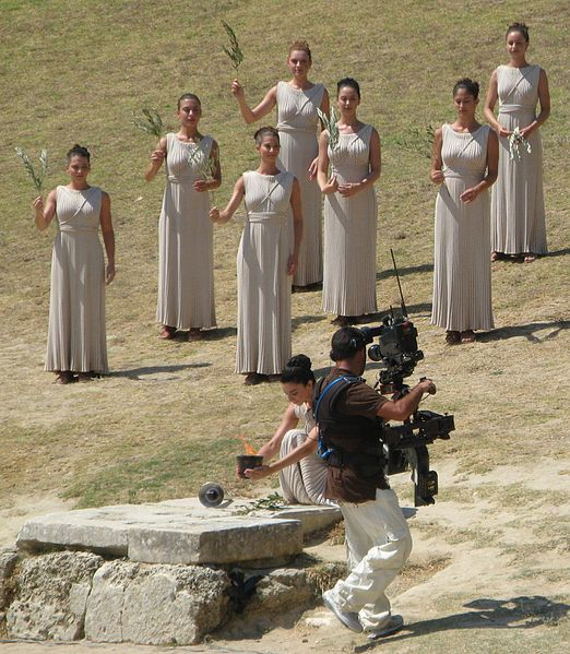 File:2010 Summer Youth Olympics torch ignition ceremony-olympic flame1.jpg